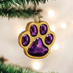 Paw Print Old World Christmas Ornament