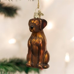 Chocolate Lab Old World Christmas Dog Ornament