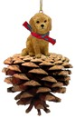 Pine Cone Goldendoodle Christmas Ornament