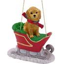 Goldendoodle Sleigh Christmas Ornament