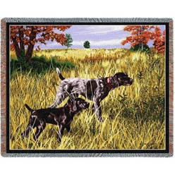 German Shorthaired Pointer Throw Blanket, Made in the USA