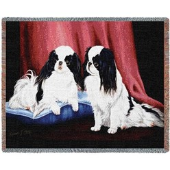 Japanese Chin Throw Blanket, Made in the USA