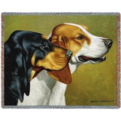 Coonhound Throw Blanket, Made in the USA
