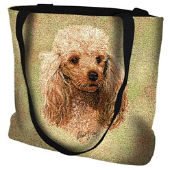 Poodle Cream Tapestry Tote Bag