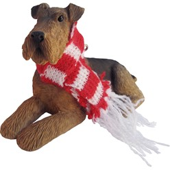 Airedale Terrier Sandicast Dog Christmas Ornament