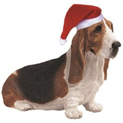 Basset Hound Sandicast Dog Christmas Ornament