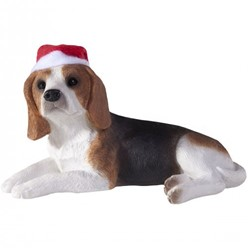 Beagle Sandicast Dog Christmas Ornament