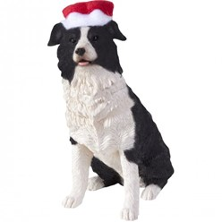 Border Collie Sandicast Dog Christmas Ornament