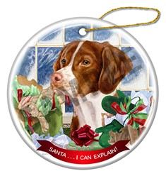 Brittany Santa I Can Explain Christmas Ornament