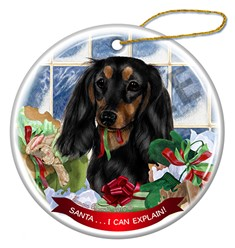 Dachshund Santa I Can Explain Dog Christmas Ornament - click for more colors