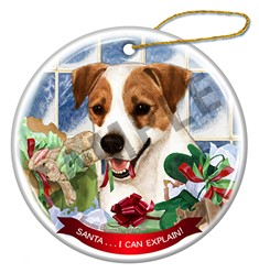 Jack Russell Santa I Can Explain Christmas Ornament