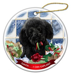 Labradoodle Santa I Can Explain Christmas Ornament - click for breed colors