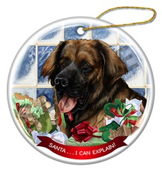 Leonberger Christmas Ornament - click for breed colors