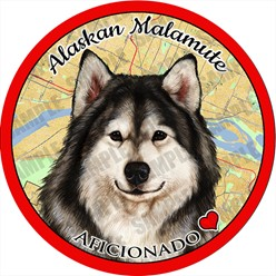 Alaskan Malamute Dog Car Coaster Buddy