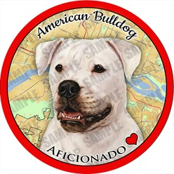 American Bulldog Car Coaster Buddy