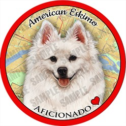 American Eskimo Dog Car Coaster Buddy