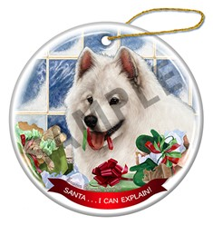 Samoyed Santa I Can Explain Christmas Ornament