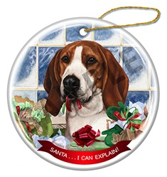 Treeing Walker Coonhound Santa I Can Explain Dog Christmas Ornament