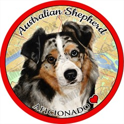 Australian Shepherd Car Coaster Buddy - click for more breed colors