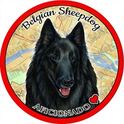 Belgian Sheepdog Car Coaster Buddy