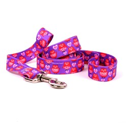 Valentine Owl Leash, Made in the USA