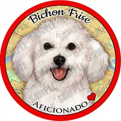 Bichon Frise Car Coaster Buddy