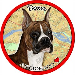 Boxer Car Coaster Buddy - click for more breed options