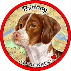 Brittany Spaniel Dog Car Coaster Buddy