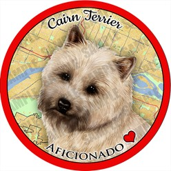 Cairn Terrier Dog Car Coaster Buddy