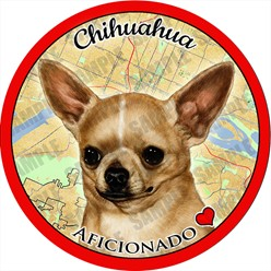 Chihuahua Dog Car Coaster Buddy - click for more breed options