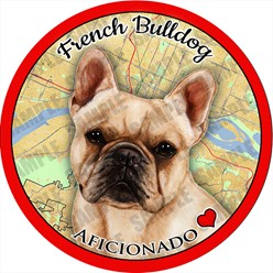 French Bulldog Car Coaster Buddy - click for more breed colors