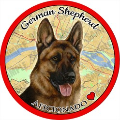 German Shepherd Dog Car Coaster Buddy - click for more breed colors