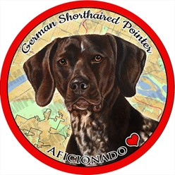 German Shorthair Dog Car Coaster Buddy
