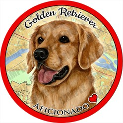 Golden Retriever Dog Car Coaster Buddy - click for more breed colors