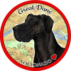 Great Dane Dog Car Coaster Buddy - click for more breed options