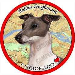 Italian Greyhound Dog Car Coaster Buddy