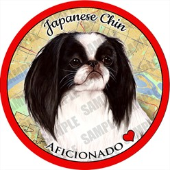 Japanese Chin Dog Car Coaster Buddy