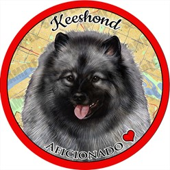 Keeshond Dog Car Coaster Buddy