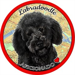 Labradoodle Dog Car Coaster Buddy - click for more breed colors