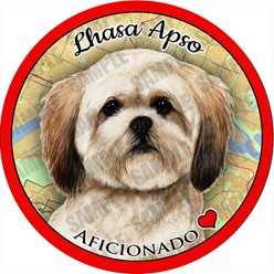Lhasa Apso Dog Car Coaster Buddy