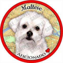 Maltese Dog Car Coaster Buddy