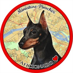 Miniature Pinscher Dog Car Coaster Buddy