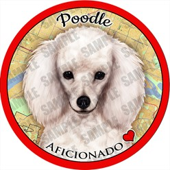Poodle Dog Car Coaster Buddy - click for more breed colors