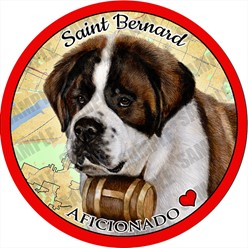 Saint Bernard Dog Car Coaster Buddy