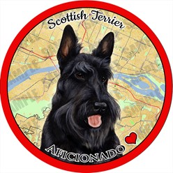 Scottish Terrier Dog Car Coaster Buddy