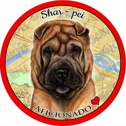 Shar Pei Dog Car Coaster Buddy