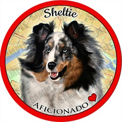 Sheltie Dog Car Coaster Buddy - click for more breed colors