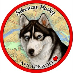 Siberian Husky Dog Car Coaster Buddy - click for more breed colors