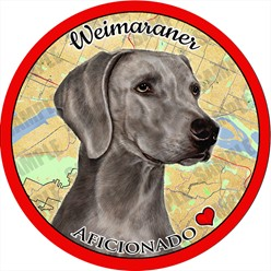 Weimaraner Dog Car Coaster Buddy