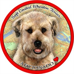 Soft Coated Wheaten Terrier Dog Car Coaster Buddy